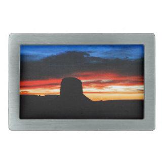 Boucle De Ceinture Rectangulaire Coucher du soleil, vallée de monument, UT