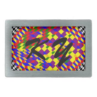 Boucle De Ceinture Rectangulaire Cube cassé par Kenneth Yoncich