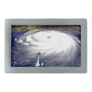 Boucle De Ceinture Rectangulaire Cyclone superbe Sandy 2012, oeil du storm_
