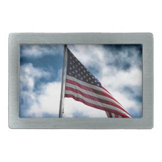 Boucle de ceinture rectangulaire de drapeau