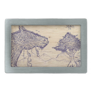 Boucle De Ceinture Rectangulaire Dessin dans bois