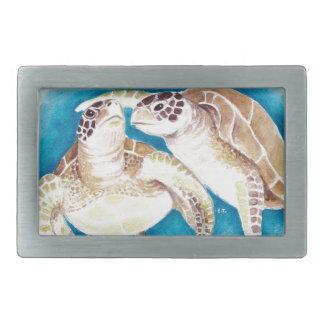 Boucle De Ceinture Rectangulaire Deux tortues de mer