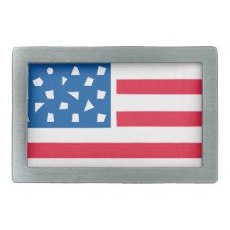 Boucle De Ceinture Rectangulaire Drapeau américain