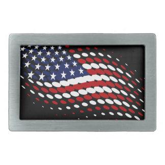 Boucle De Ceinture Rectangulaire Drapeau américain des Etats-Unis d'image tramée