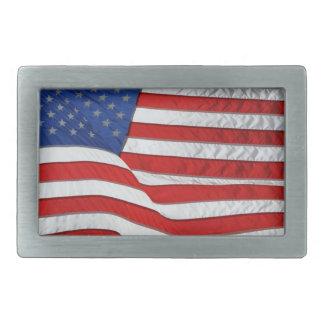 Boucle De Ceinture Rectangulaire Drapeau des USA pour les patriotes américains