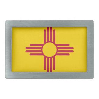 Boucle De Ceinture Rectangulaire Drapeau du Nouveau Mexique