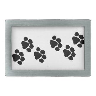 Boucle De Ceinture Rectangulaire Empreintes de pattes d'animaux familiers