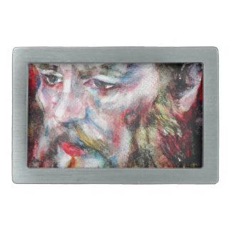 Boucle De Ceinture Rectangulaire FYODOR DOSTOYEVSKY - aquarelle portrait.2