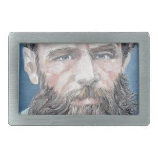 Boucle De Ceinture Rectangulaire fyodor dostoyevsky - portrait d'huile