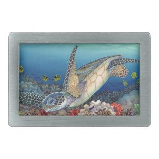 Boucle De Ceinture Rectangulaire Honu (tortue de mer verte)