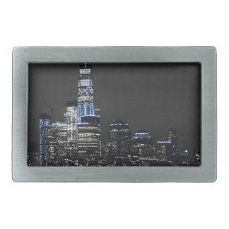 Boucle De Ceinture Rectangulaire Horizon de New York City New York d'horizon de New