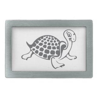 Boucle De Ceinture Rectangulaire Illustration de tortue et de Hughes