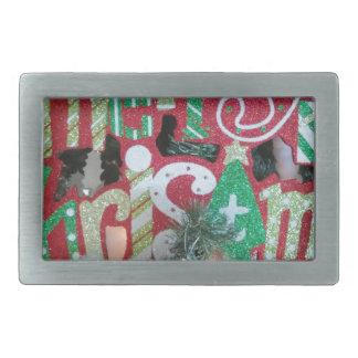 Boucle De Ceinture Rectangulaire Joyeux Noël
