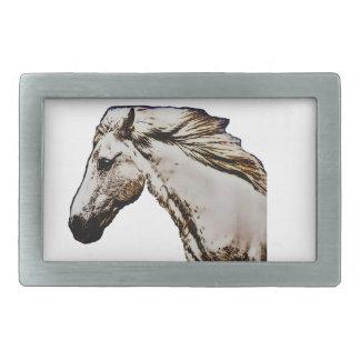 Boucle De Ceinture Rectangulaire La tête de cheval