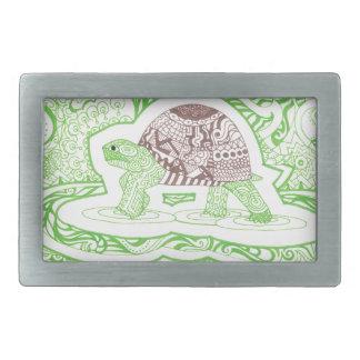 Boucle De Ceinture Rectangulaire La tortue de déplacement