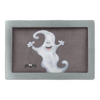 Boucle De Ceinture Rectangulaire Le fantôme de Halloween huent
