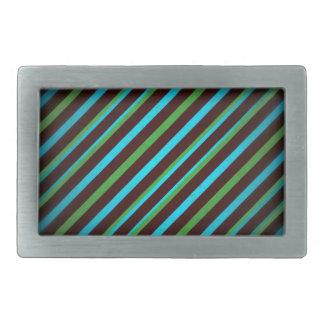 Boucle De Ceinture Rectangulaire Le vert bleu barre la boucle de rectangle
