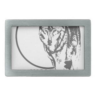 a4ab6ad630e Boucle De Ceinture Rectangulaire Lune de loup - hurlant