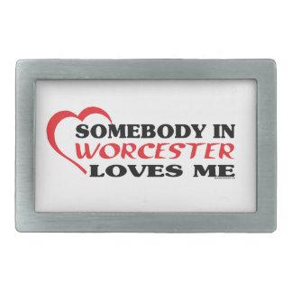 Boucle De Ceinture Rectangulaire Quelqu'un à Worcester m'aime
