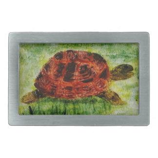 Boucle De Ceinture Rectangulaire Tortue animale d'art de reptile