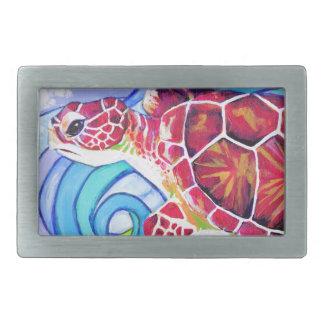 Boucle De Ceinture Rectangulaire Tortue de Surfin