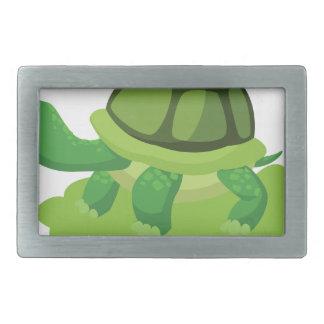 Boucle De Ceinture Rectangulaire tortue marchant dans l'herbe