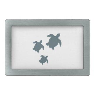 Boucle De Ceinture Rectangulaire Trois tortues de mer nageant ensemble