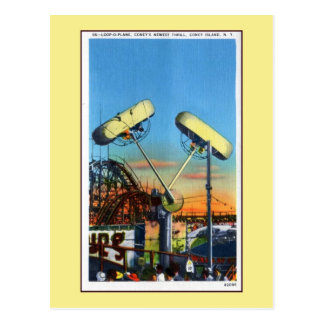 Boucle-o-ruelle vintage de Coney Island Carte Postale