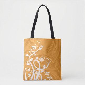 Boucles au-dessus d'illustration orange tote bag