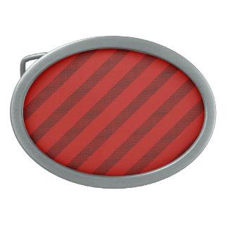 Boucles De Ceinture Ovales Boucle rouge d'ovale de rayure de point