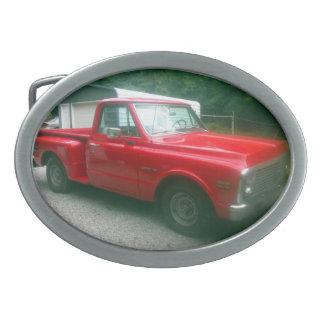 Boucles De Ceinture Ovales Camion 1972 de Chevy C10 Stepside de rouge