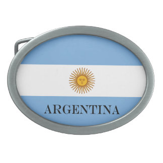 Boucles De Ceinture Ovales Drapeau de l'Argentine