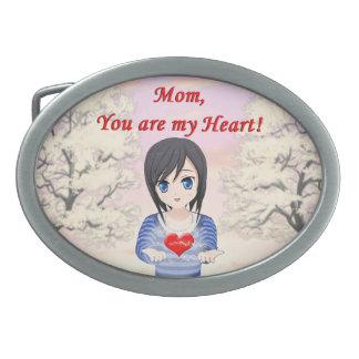 Boucles De Ceinture Ovales Le jour de mère - maman, vous êtes mon coeur