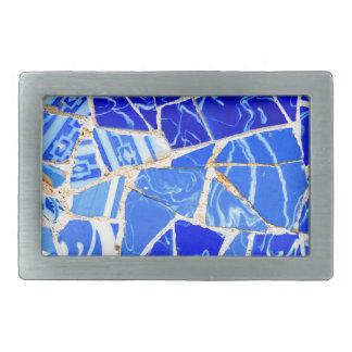 Boucles De Ceinture Rectangulaires Arrière - plan bleu abstrait