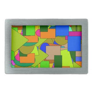 Boucles De Ceinture Rectangulaires chiffres géométriques