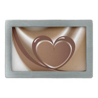 Boucles De Ceinture Rectangulaires Coeur de chocolat d'une bande à l'arrière-plan de