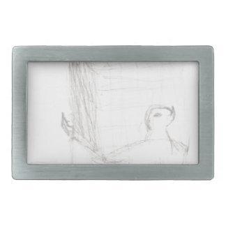 Boucles De Ceinture Rectangulaires cube en tortue de boîte dessinant Eliana