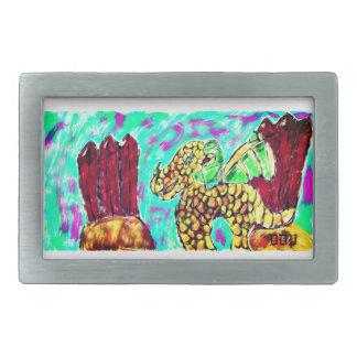 Boucles De Ceinture Rectangulaires Dragon et grenat