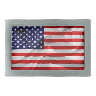 Boucles De Ceinture Rectangulaires Le drapeau des Etats-Unis d'Amérique