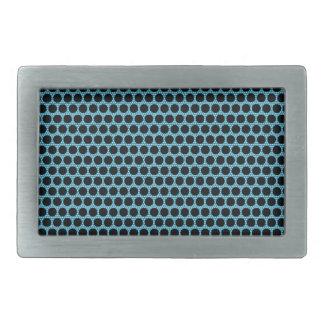 Boucles De Ceinture Rectangulaires Le noir pointille la boucle bleue de rectangle