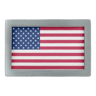 Boucles De Ceinture Rectangulaires Les Etats-Unis drapeau américain boucle de