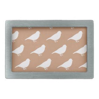 Boucles De Ceinture Rectangulaires Oiseaux de Taupe