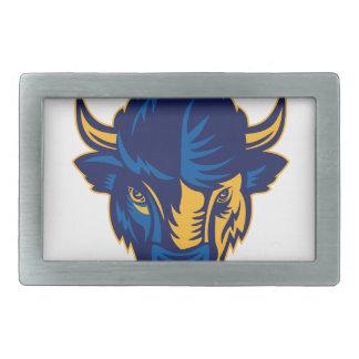 Boucles De Ceinture Rectangulaires Tête de bison américain rétro
