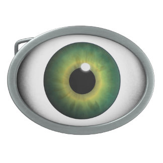 Boucles de ceinture vertes de cool d'iris d'oeil boucle de ceinture ovale