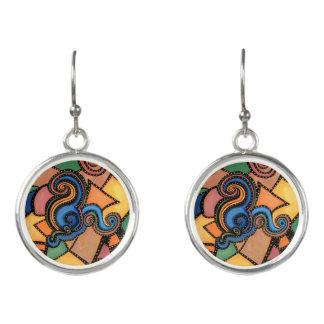 Boucles D'oreilles Art abstrait moderne