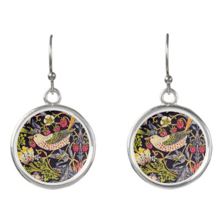 Boucles D'oreilles Art floral Nouveau de voleur de fraise de William