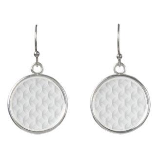Boucles D'oreilles Cercle blanc de relief
