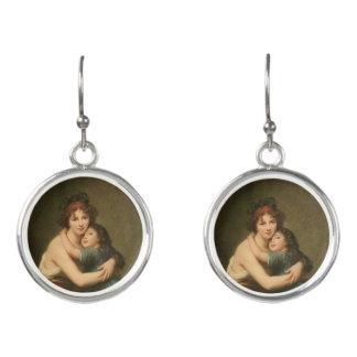 Boucles D'oreilles Elisabeth avec sa fille 1780-1819