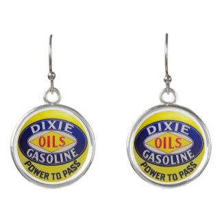 Boucles D'oreilles La pompe à gaz vintage Dixie huile l'ère de hot
