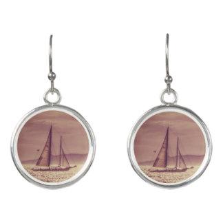 Boucles D'oreilles Navigation à travers la mer d'or